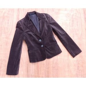 Express Design Studio brown velvet button Blazer 8